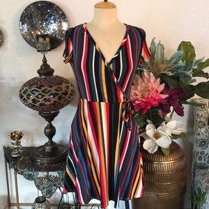 NWT Discreet multi color dress size L